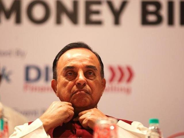 File photo of BJP leader Subramanian Swamy. Swamy, a Harvard-returned economist, has not been a vocal supporter for the Goods and Services Tax.