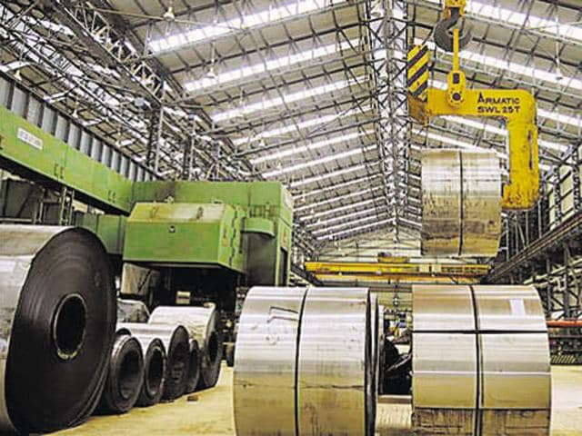 steel factory in india