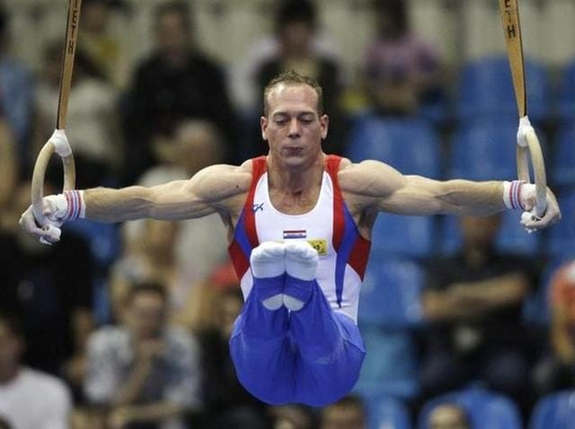 Yuri Van Gelder had sealed a place in Rio in the finals of the men's rings event.