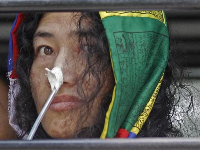 Irom Sharmila in New Delhi in October 2014. The human rights activist and anti-AFSPA crusader last month announced she would be ending her indefinite fast that began 16 years ago. She intended to marry, and also join politics.