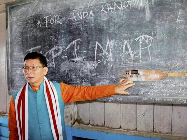 File photo of former Arunachal Pradesh chief minister Kalikho Pul . Pul was found hanging at his residence in Itanagar on August 9, 2016.