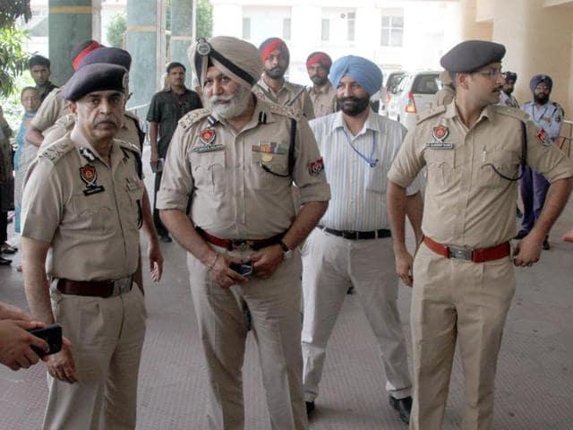 Director general of police Suresh Arora at Hero DMC Heart institute in Ludhiana on Monday.