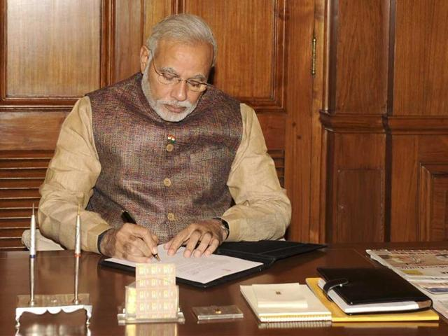 Prime Minister Narendra Modi reprimanded BJP lawmakers on Tuesday for failing to submit progress reports of their respective constituencies.