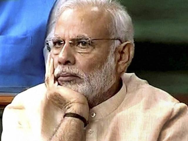 Prime Minister Narendra Modi on the first day of the monsoon session in New Delhi.
