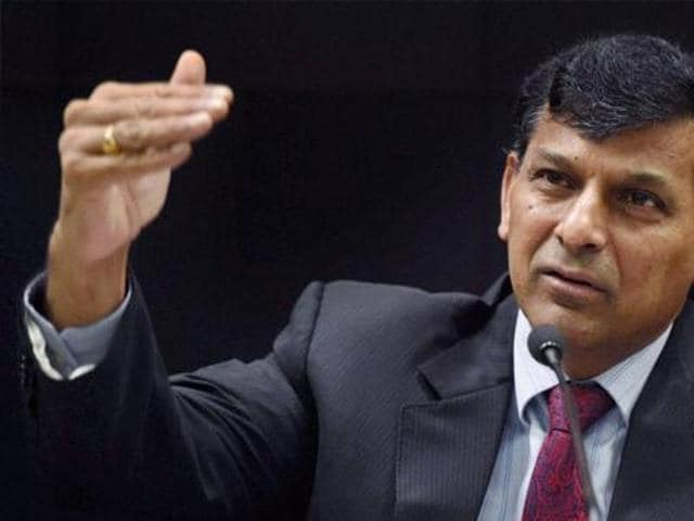 Mumbai: RBI Governor Raghuram Rajan interacts with the media after his last monetary policy review at the RBI headquarters in Mumbai on Tuesday.
