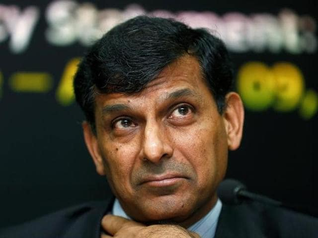 RBI governor Raghuram Rajan interacts with the media after his last monetary policy review at the RBI headquarters in Mumbai on Tuesday.