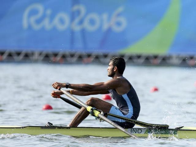 Bhokanal finished fourth in his men's singles sculls quarterfinal.