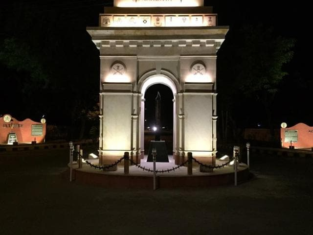 The replica of the India Gate on the Mall Road in Ferozepur.