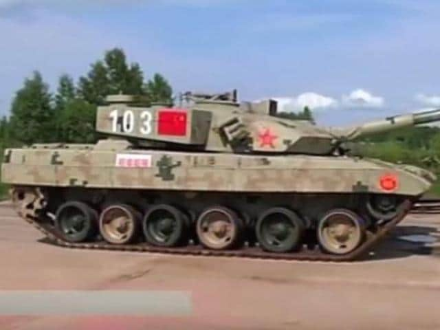 China's Type-96B main battle tank.(YouTube screengrab)