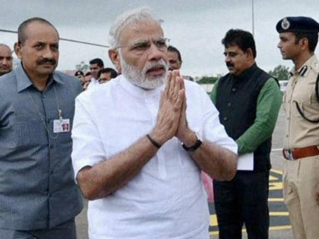 Prime Minister Narendra Modi called out to Kashmiris to shun the violence that has brought life to a standstill over the past month.