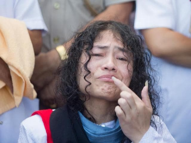 Irom Sharmila ended her indefinite hunger strike against the Armed Forces (Special Powers) Act on Tuesday after she was granted bail by a local court in an attempted suicide case in Imphal, India on August 09, 2016.