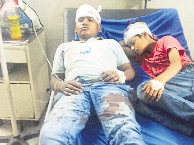 Gaurav (15) and Parminder (13) are undergoing treatment at civil hospital.