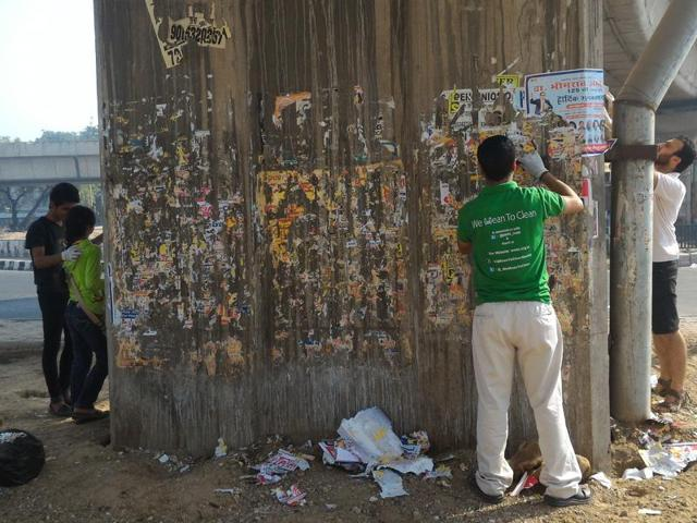 Volunteers from We Mean to Clean have taken it upon themselves to clean spaces that are ignored by civic bodies.