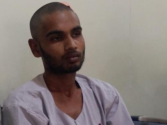 Nitin Vishwakarma, the carpenter who had the nail lodged in his head