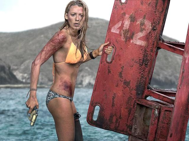 Blake Lively in a still from The Shallows.