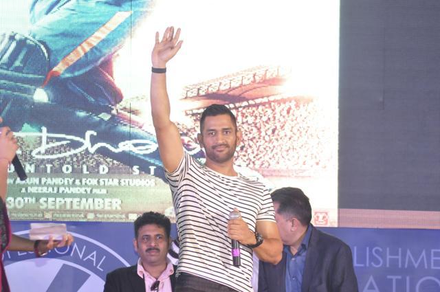 Cricketer Mahendra Singh Dhoni at Lovely Professional University near Jalandhar on Wednesday.