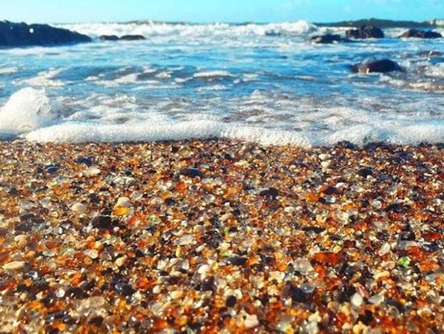 The glass beach of Kauai stands in stark contrast with the island's wild, natural landscapes. Ironically, this beach, initially created due to human carelessness, could soon disappear for the exact same reason, as tourists are proving a little too keen on taking sea glass pebbles home as souvenirs.