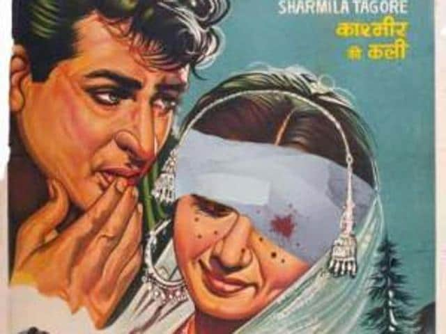 Srinagar-based Suhail's digitally manipulated poster of the hit 1964 Bollywood film Kashmir Ki Kali – showing actress Sharmila Tagore with a bandaged eye and her face pockmarked with pellets – is the latest to draw attention to the violence-hit state across the spectrum.(Mir Suhail/HT)