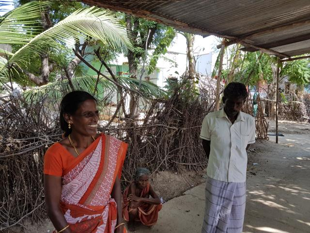 Manimegalai R (left) and her husband, Anbazhagan, are Dalit labourers in a southern Tamil Nadu village. Rising levels of literacy has brought a growing awareness of the injustices that they, as Dalits, face. The community is fighting for day to be allowed into the village temple.