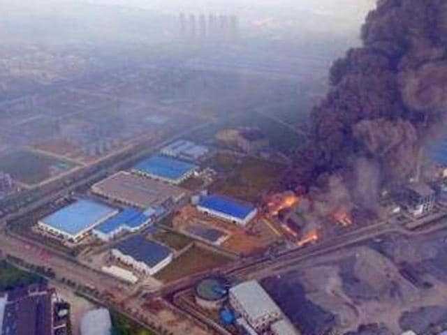 The blast in the city of Dangyang in the central province of Hubei took place around 3.20pm, when a high-pressure steam pipe exploded, the official Xinhua news agency said.