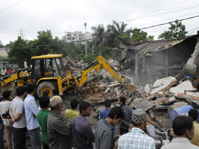 Bhopal Municiapl Corporation,anti-encroachment drive in Bhopal,Khanugaon