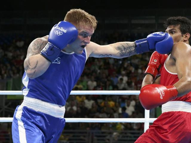 Manoj joined 7th seed Vikas Krishan (75kg) as the second Indian in the pre-quarters.