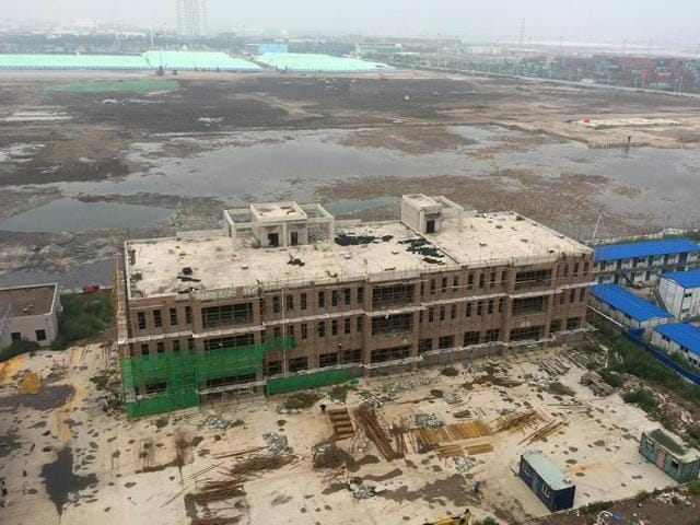 The site of explosions in 2015, one of China's worst industrial accidents, in Tianjin. Another explosion on Thursday highlighted the poor safety record of China's industrial sector.