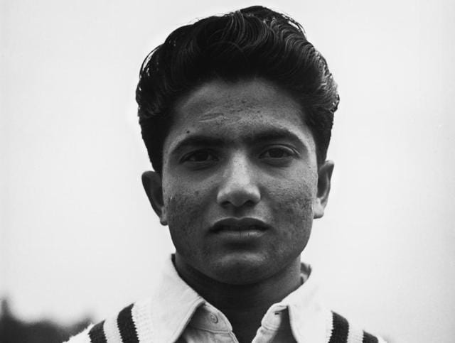 """File photo of Pakistan batting great Hanif Mohammad from May 1954. The original 'Little Master"""" is suffering from cancer and fighting for his life in Karachi."""
