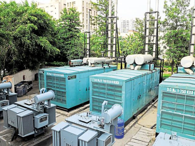 The perennial construction work in the city and the excessive use of diesel generator sets (above) have led to a steady increase in pollution.