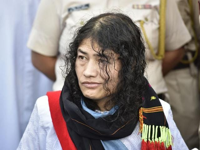 Irom Sharmila breaks her 16 year long fast at a press conference at Jawahar Lal Nehru Hospital on Tuesday.