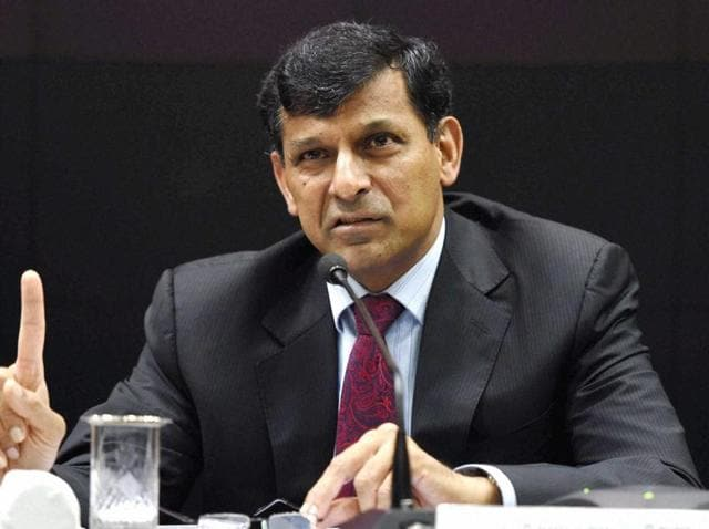 RBI governor Raghuram Rajan speaks at a press conference after his last monetary policy review in Mumbai.