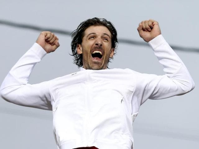 Swiss Fabian Cancellara rode off into a golden retirement with a second Olympic time trial title after a masterful ride that eclipsed Tour de France champion Chris Froome on Wednesday.