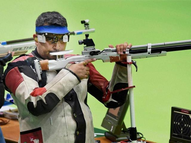Gagan Narang, who won the 2012 London Games bronze in 10m air rifle, signed off at 13th with a total score of 623.1 in 50 metre prone rifle.