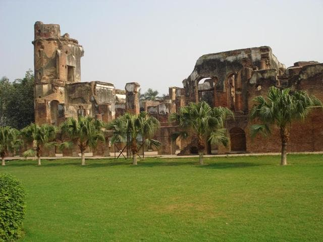 The Lucknow Residency where the siege took place in 1857.(Courtesy Mohi-ud-Din Mirza)