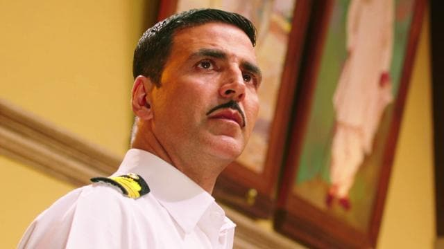 Akshay cuts a dashing figure in his naval uniform. His erect spine is shorthand for a man of duty and determination. But his character doesn't have vulnerability or an arc.