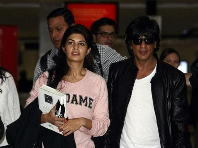 After performing Down Under, Jacqueline Fernandez and Shah Rukh Khan returning from Australia. (Pinterest)