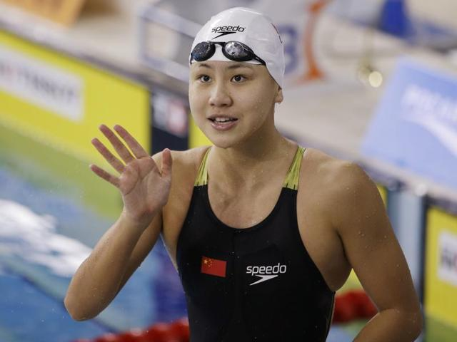 Xinyi came fourth in the women's 100m butterfly final on Sunday -- just 0.09 seconds away from a place on the podium.