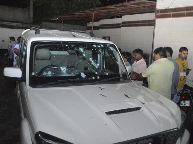 Brijpal Teotia,BJP leader Teotia shot,Ghaziabad crime