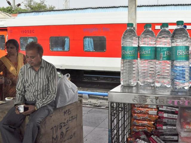 Railways said between 2012 and 2014 IRCTC sold around 11 crore bottles every year. In 2014-15 the production of the bottles dropped because the static and mobile licensees chose other brands.