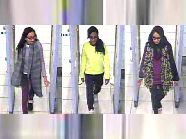 Kadiza Sultana (left) along with two other friends, flew from London's Gatwick Airport to Turkey on February 17, 2015 to join the Islamic State.