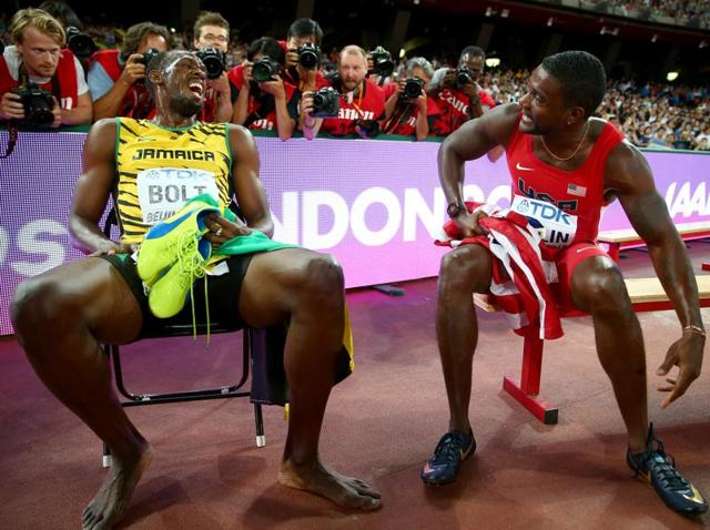Usain Bolt will be challenged by Justin Gatlin, who has posted the year's fastest time in 100 metres.