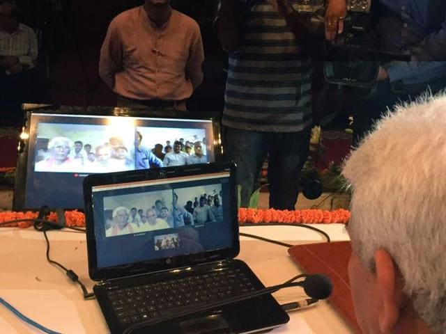 Union telecommunication minister Manoj Sinha inaugurated Wi-Fi and hotspot services on the Bharat Net Optical Fibre at Nagepur and Jayapur villages in Varanasi on Saturday.