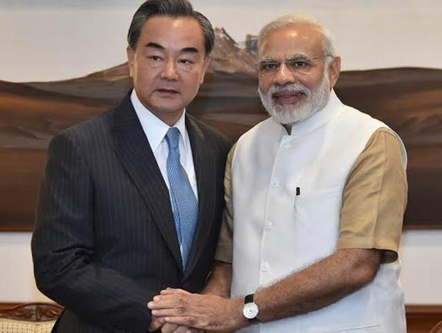 Chinese foreign minister Wang Yi meets Prime Minister Narendra Modi at 7 RCR on Saturday.