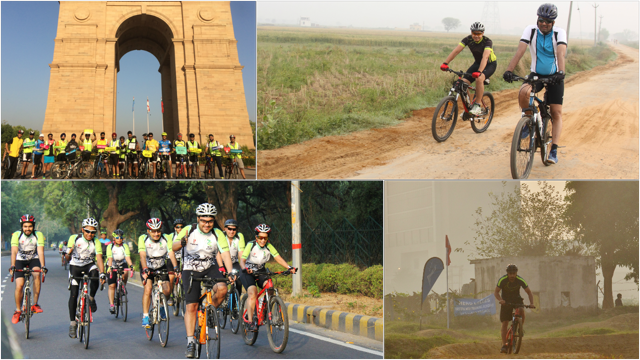 Cycling groups inDelhi-NCR.
