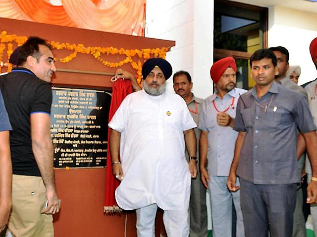 Deputy chief minister Sukhbir Singh Badal was in Ahmedgarh to lay the foundation stone of a new grain market and sewerage.