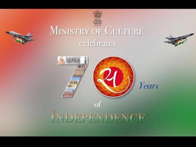 Image of the Sino-Pakistani JF-17 Thunder jet adorned with the Indian tricolour from culture ministry's promotional video.