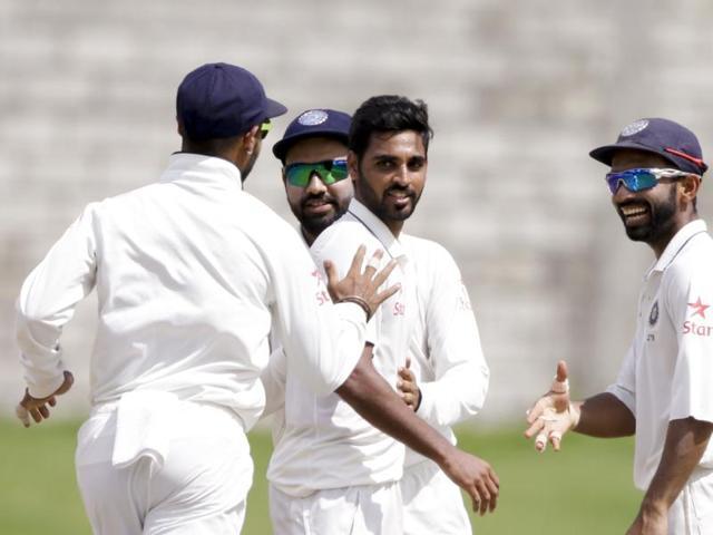 Bhuvneshwar Kumar replaced speedster Umesh Yadav in this Test match.