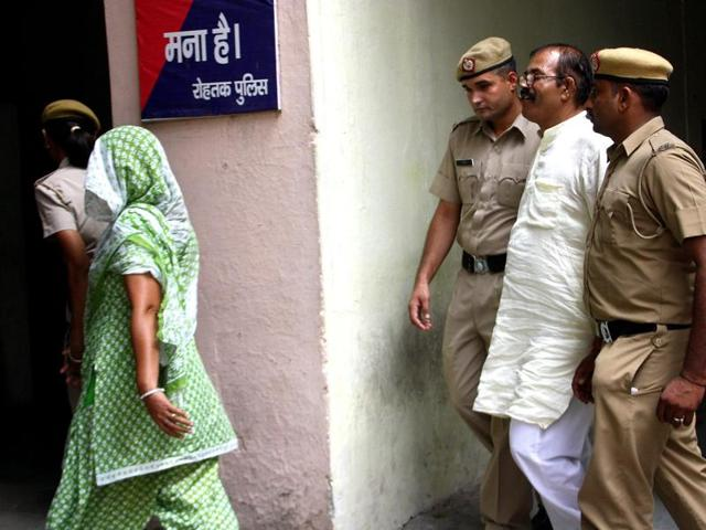 Narender, his wife Rita and son Sunny were awarded life term for killing their daughter Nidhi and her lover Dharmender , in Rohtak, August 10, 2016