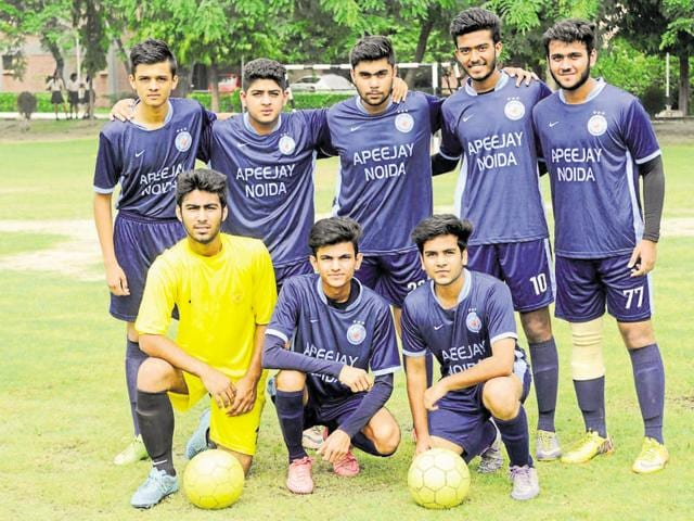 The senior football team of Apeejay School in Noida was formed after extensive trials of over 40 students.