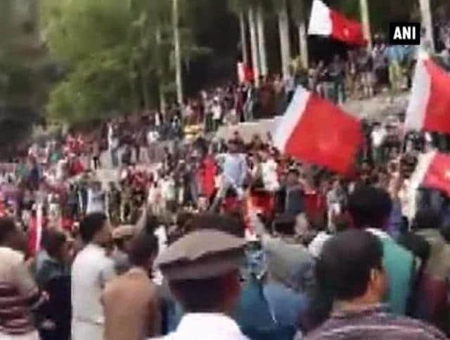 Protesters in Pakistan-occupied Gilgit-Baltistan take to the streets against a crackdown by security forces.
